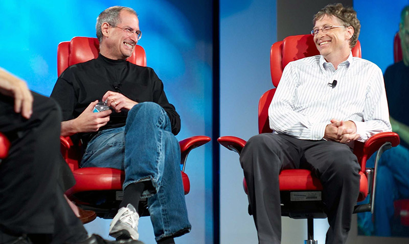 Bill Gates recordó a Steve Jobs con una canción
