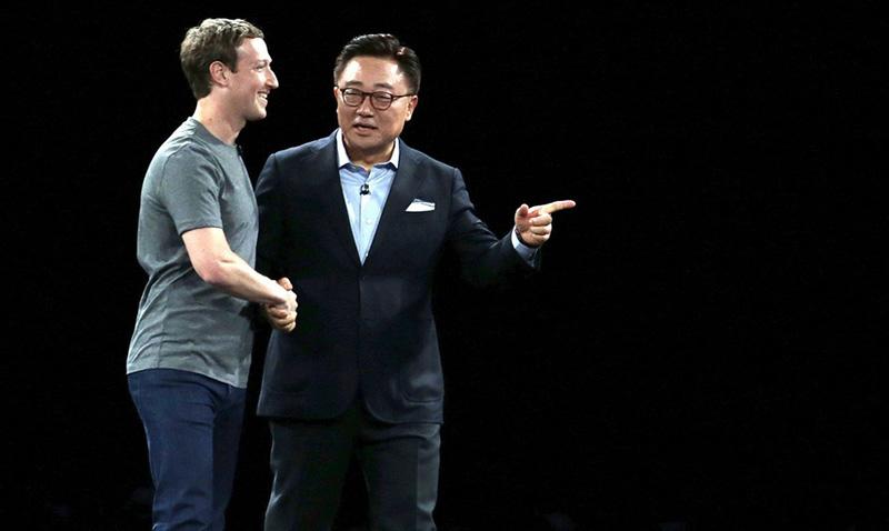 Mark Zuckerberg le da una mano a Samsung