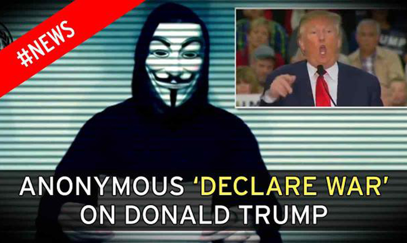 Cyberataque de Anonymous contra Donald Trump
