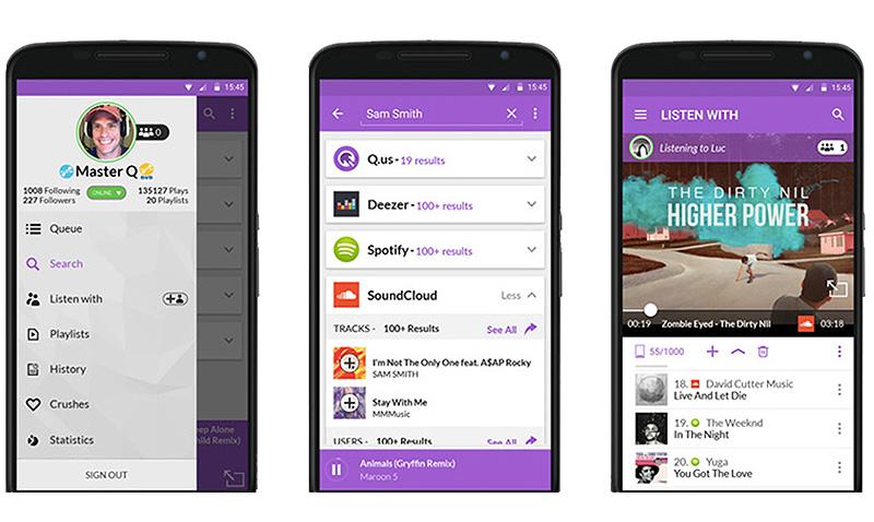Unifica tus listas de Deezer, Spotify y más con Qus