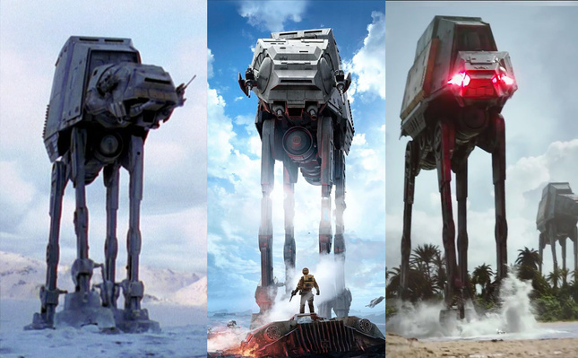 Star Wars: Rogue One modifica diseño de los AT-AT de 1980