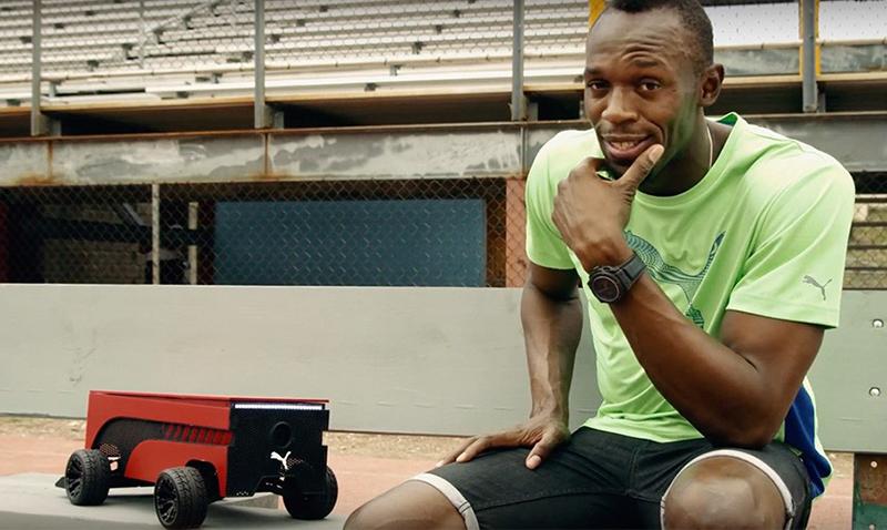 Conozcan al robot que desafió a Usain Bolt