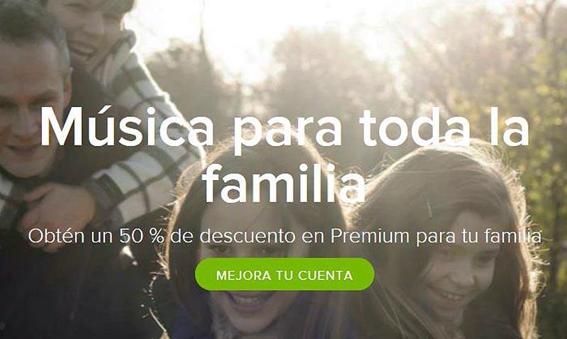 Conoce Spotify Family y sus nuevos planes compartidos