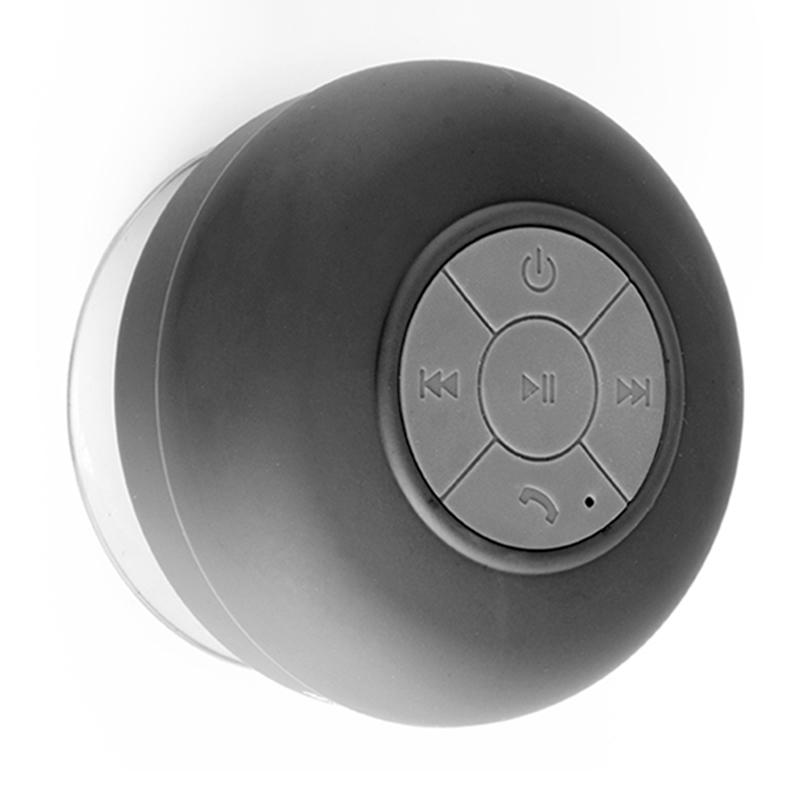 Te regalamos esta Bocina Bluetooth con ventosa resistente al agua