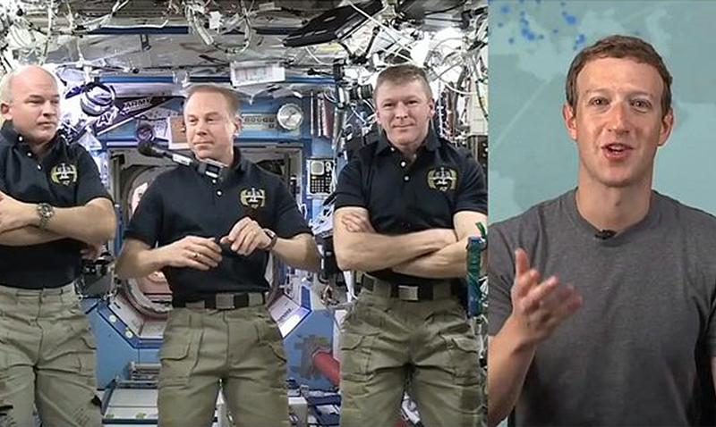 Facebook transmitió en vivo desde la estación espacial