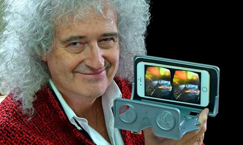 Brian May de Queen lanza sus lentes de realidad virtual