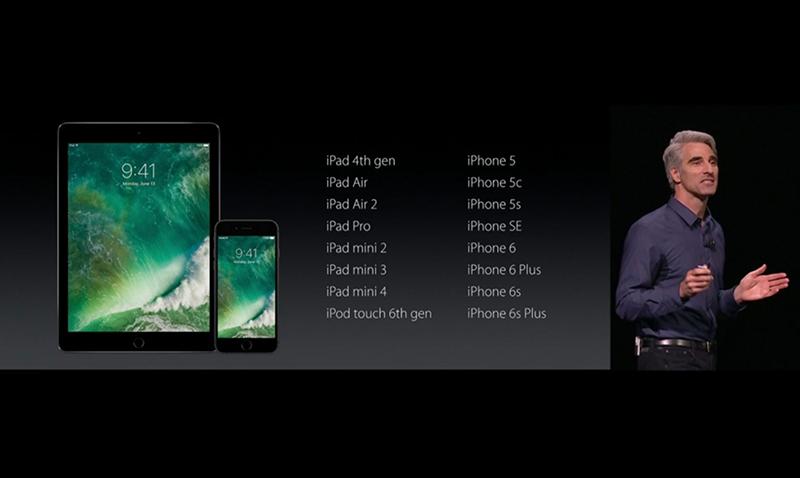 Dispositivos que se pueden actualizar a iOS 10