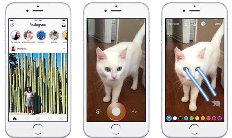 Instagram copia funciones de Snapchat