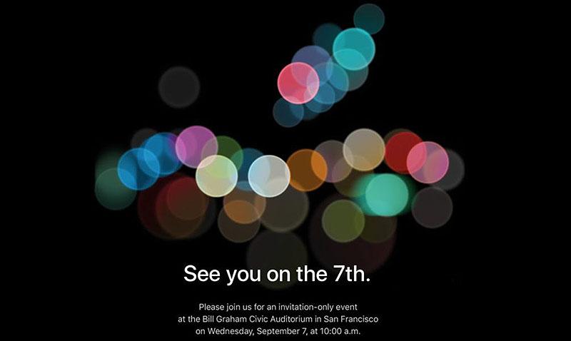 Apple confirmó su keynote para el 7 de septiembre