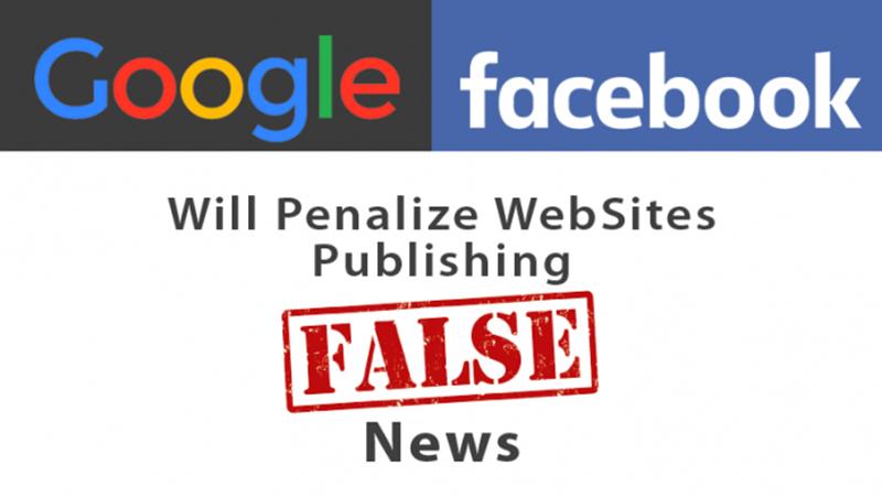 Google y Facebook sancionarán a los sitios con noticias falsas