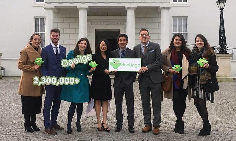 Duolingo reconocido por el gobierno de Irlanda