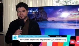 Julio Osorio, especialista de productos LG para la región de Centroamérica